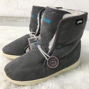 Native Kids AP Luna Boots Doublin Grey Size 11